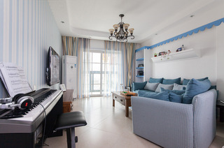 地中海风格二居客厅装修效果图