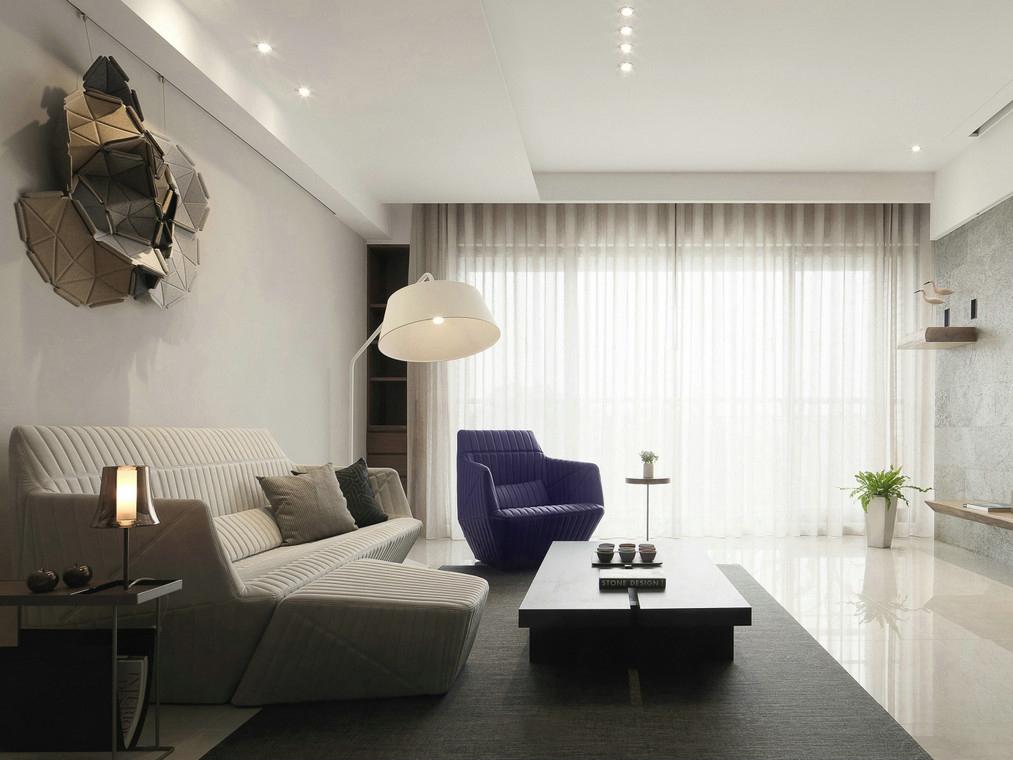 140平现代风客厅装修效果图