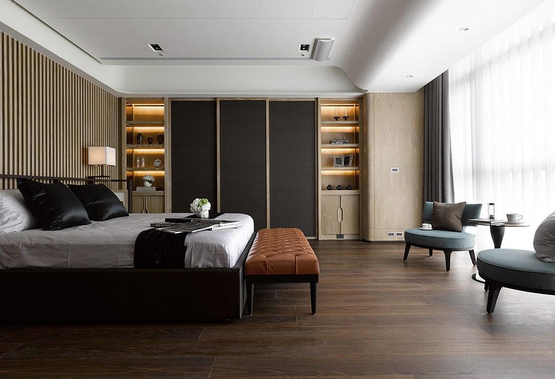 大户型现代简约风格卧室装修效果图