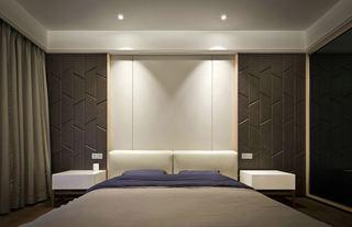 90㎡现代简约风格卧室背景墙装修效果图