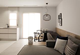 50平极简风公寓装修效果图
