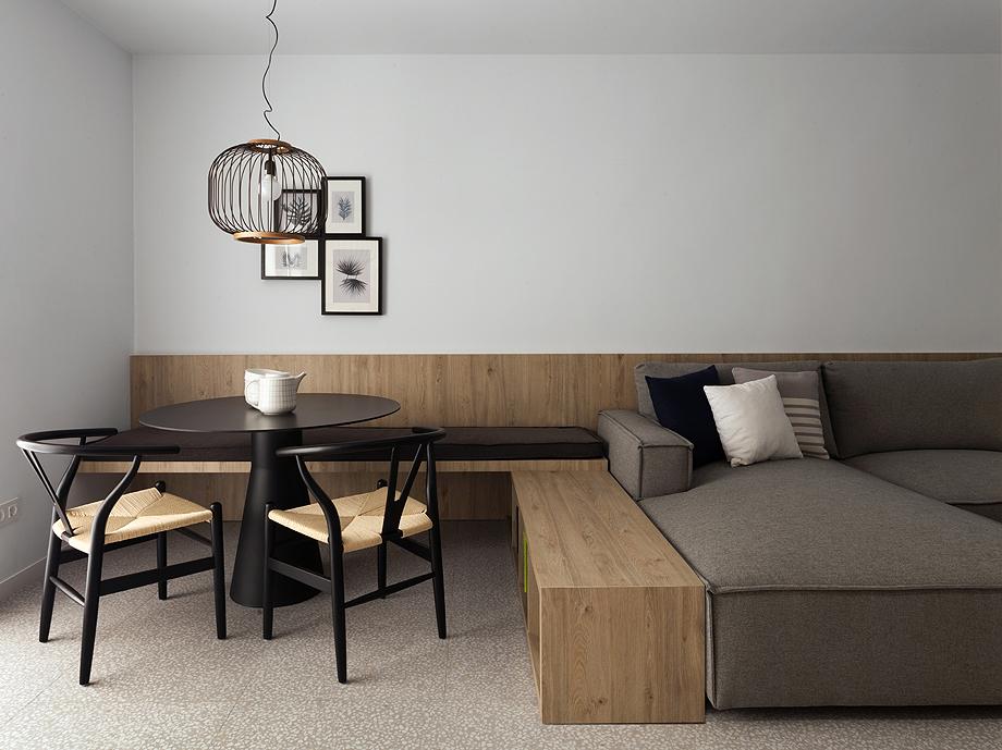 50平极简风公寓餐厅装修效果图