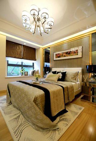 二居室现代简约卧室装修效果图