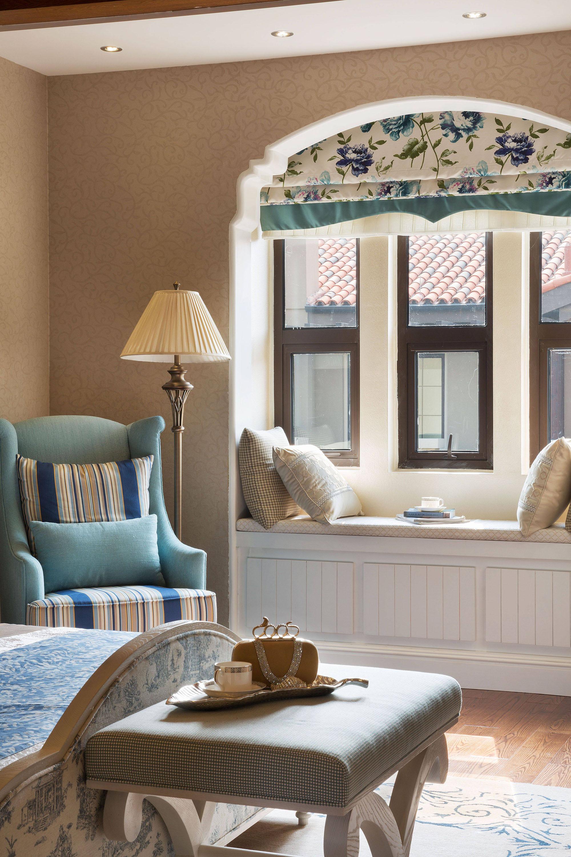 怀旧美式风格别墅飘窗装修效果图