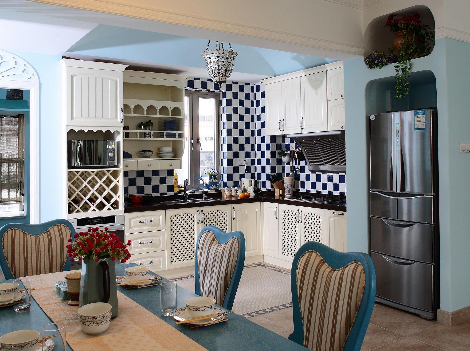 105㎡地中海风格厨房装修效果图
