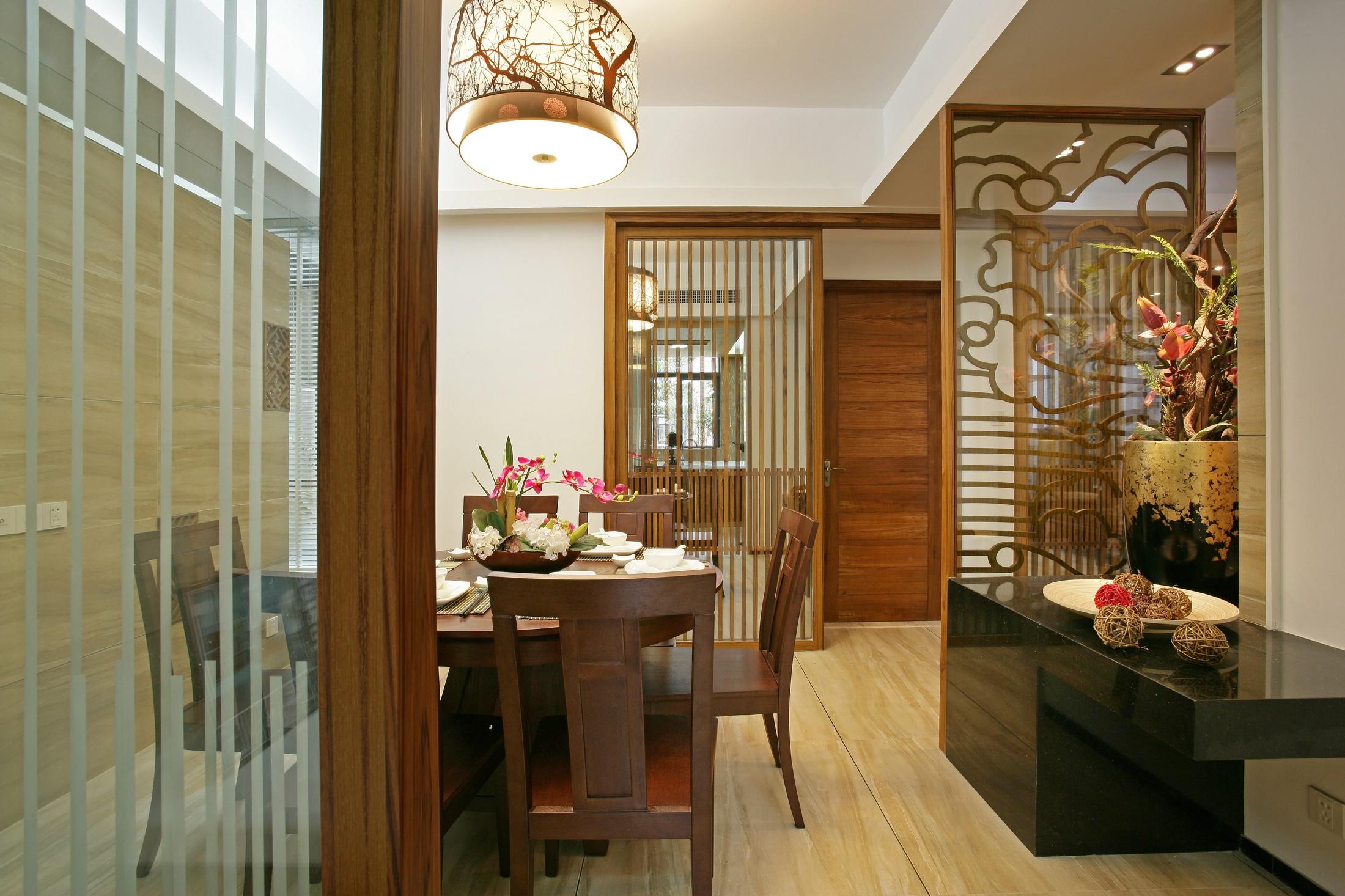 三居室中式风格餐厅装修效果图