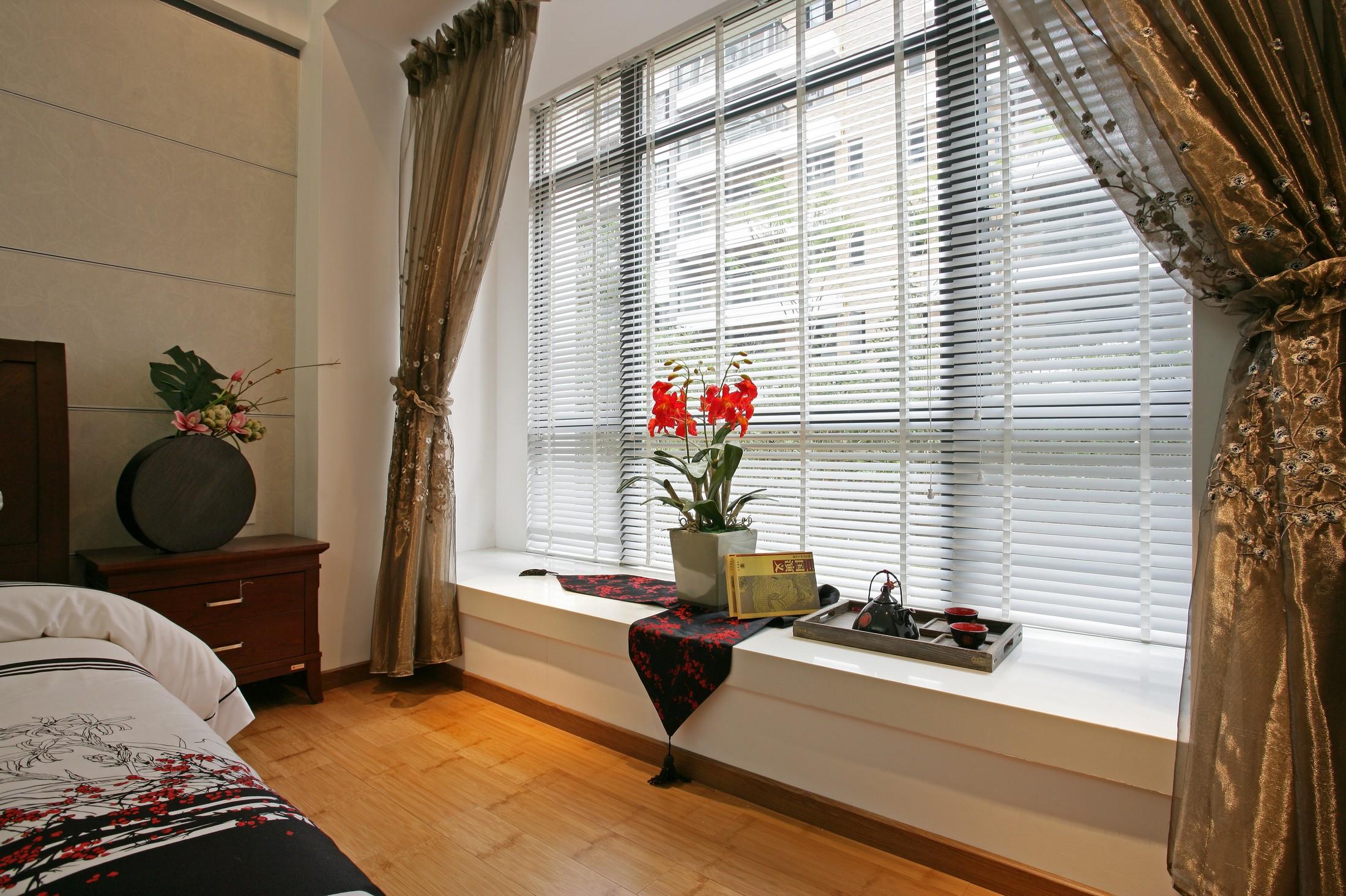 三居室中式风格飘窗装修效果图