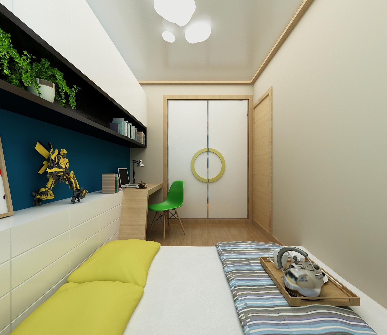 75平米日式风格卧室装修效果图