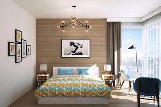 66㎡小户型公寓卧室装修效果图