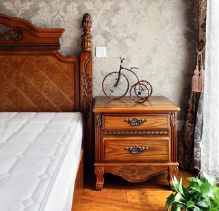 大户型复古美式风格装修床头柜设计图