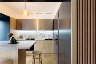 简约原木风公寓厨房装修效果图