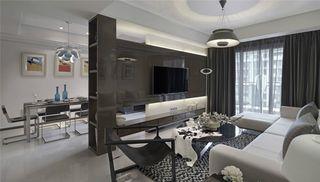 二居室现代风格电视背景墙装修效果图