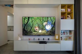 89㎡现代风三居电视墙装修效果图