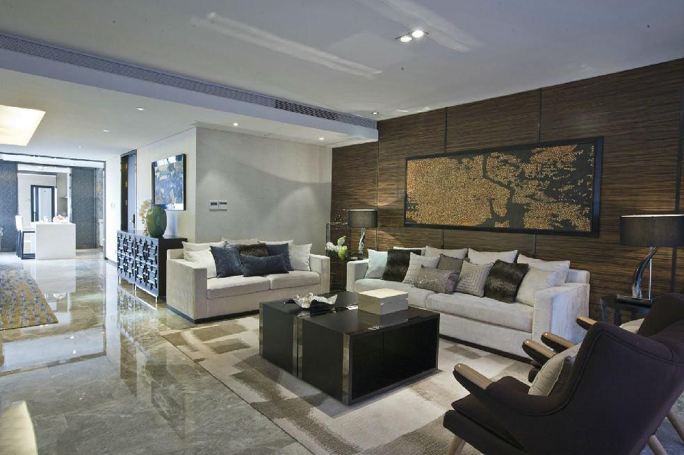 四居室现代简约风格客厅装修效果图