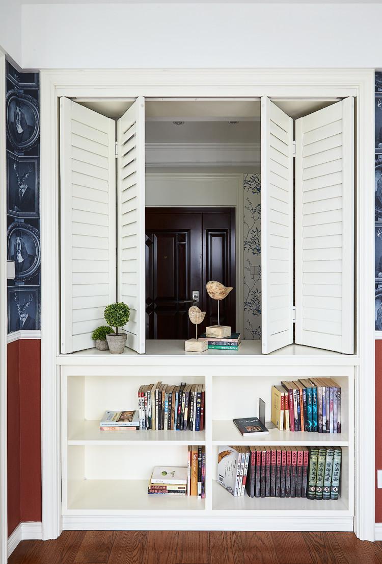 160平美式风格书柜装修效果图