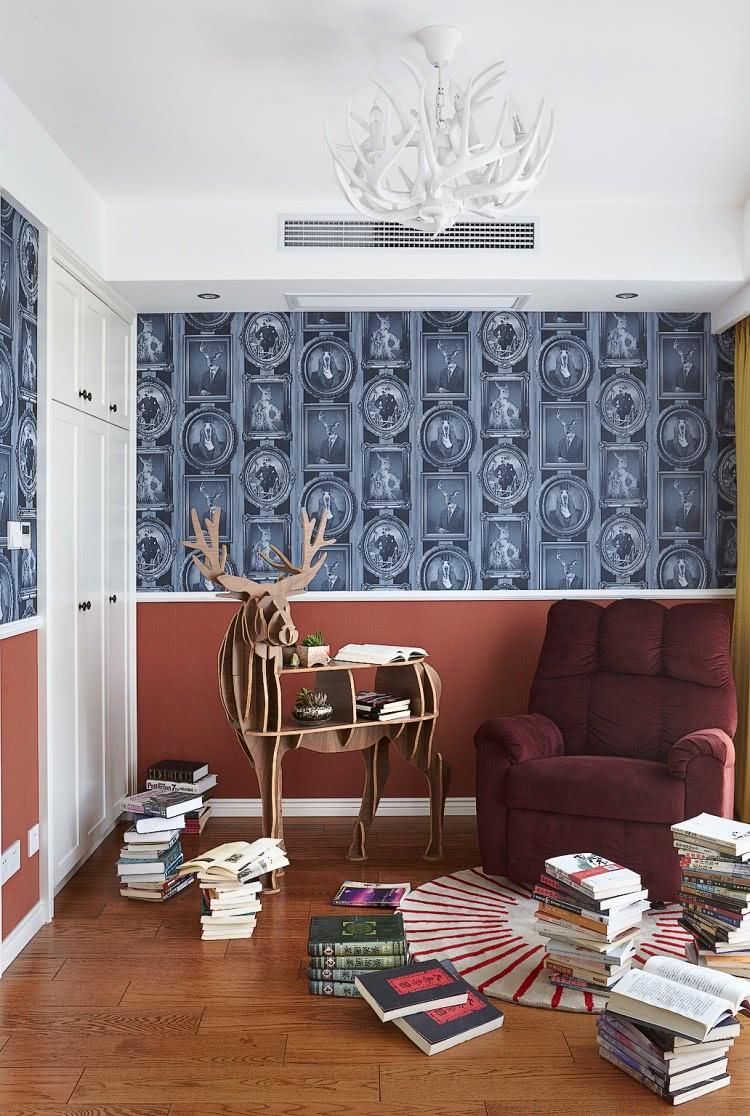160平美式风格书房装修效果图