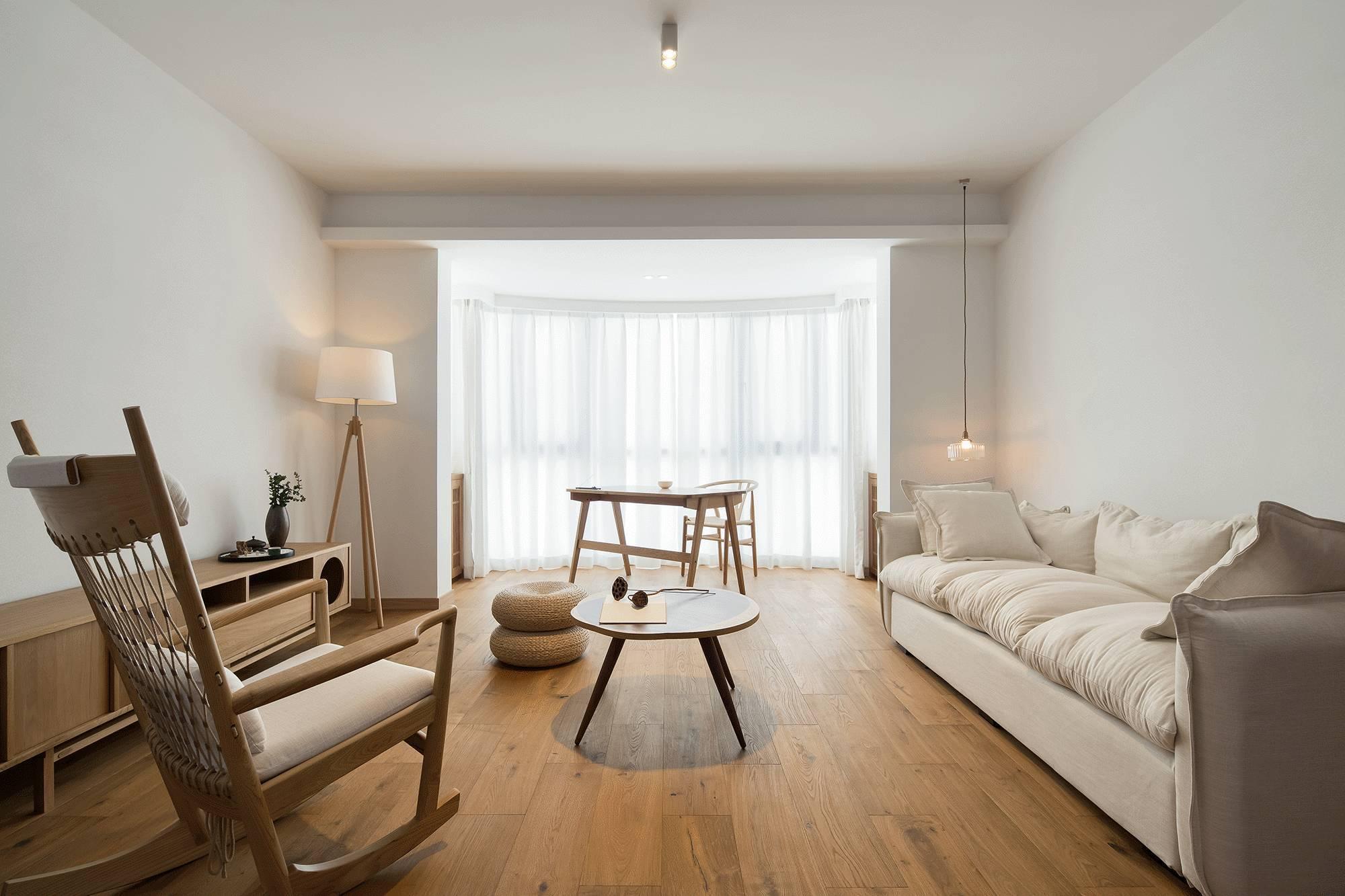 极简日式风格二居装修效果图