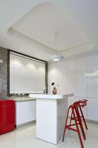 现代简约三居室吧台装修效果图