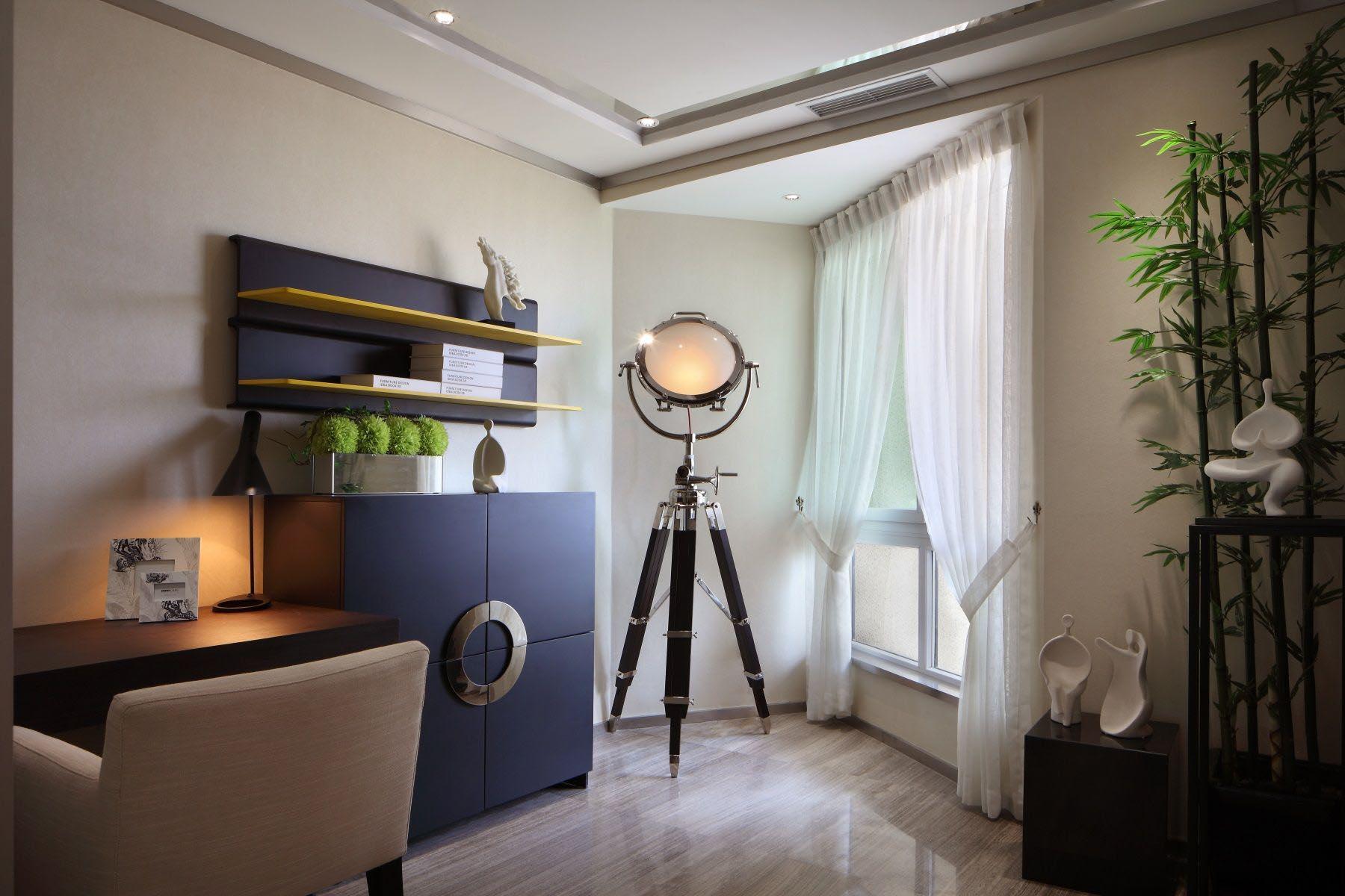 65㎡现代一居室书房装修效果图