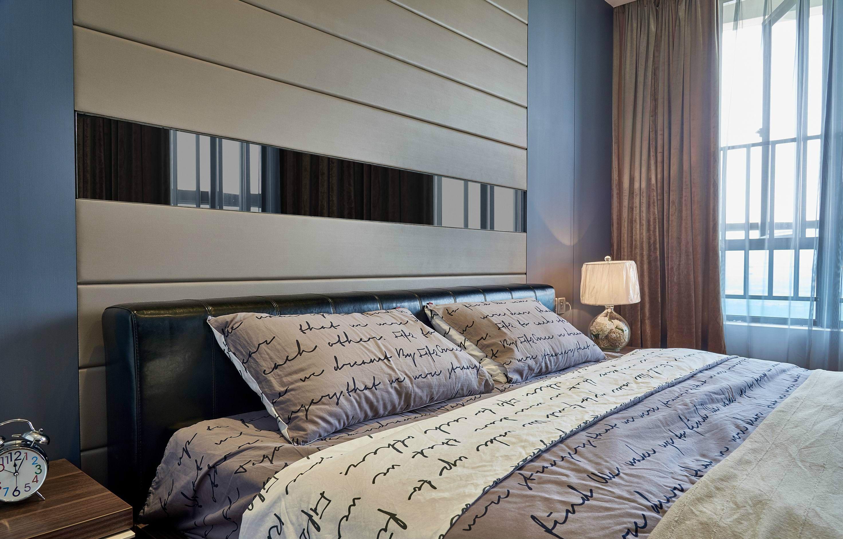 105㎡现代简约卧室装修效果图
