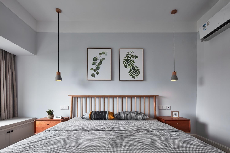 124㎡北欧风格卧室背景墙装修效果图