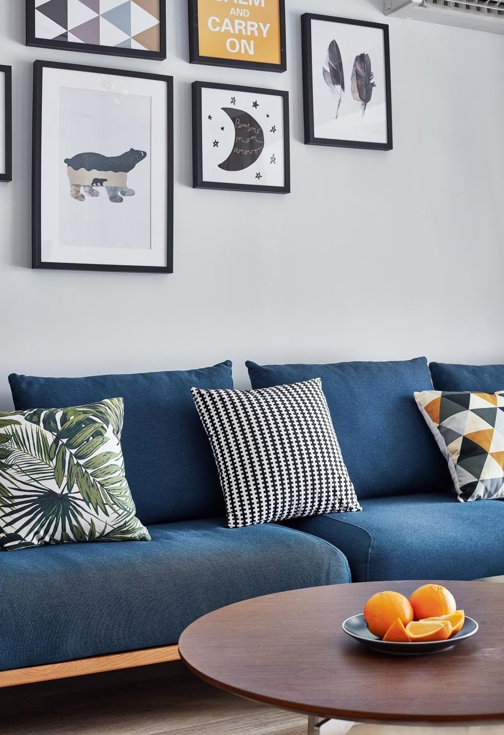 124㎡北欧风格装修沙发抱枕特写