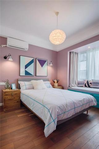 三居室北欧混搭风卧室装修效果图