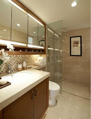 三居室东南亚风格卫生间装修效果图