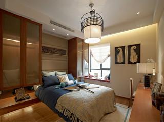三居室東南亞風格臥室裝修效果圖