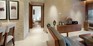 三居室东南亚风格过道装修效果图