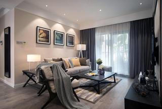 現代三居室客廳裝修效果圖