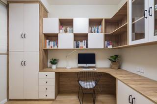 清新北欧风格书房装修效果图