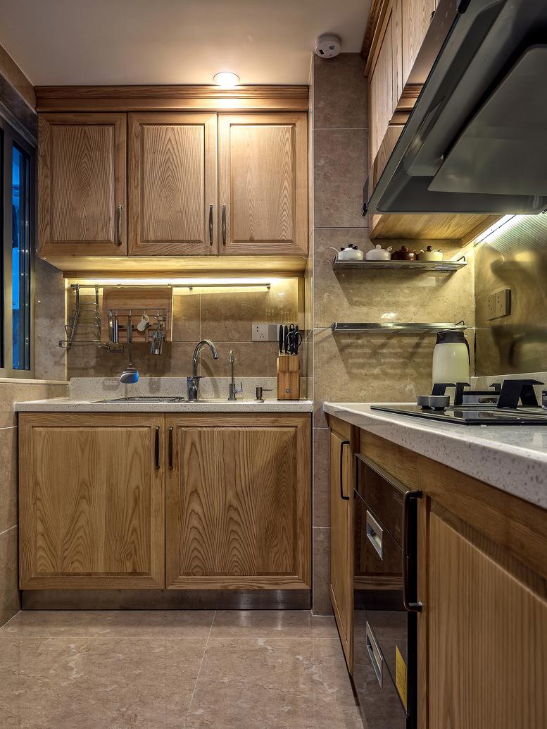 125㎡新中式风格厨房装修效果图