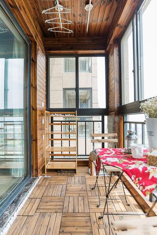 北欧二居室阳台装修效果图