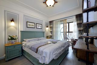蓝调美式风格三居卧室装修效果图