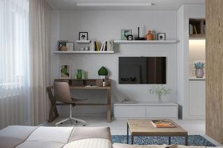 30平米公寓电视背景墙装修效果图