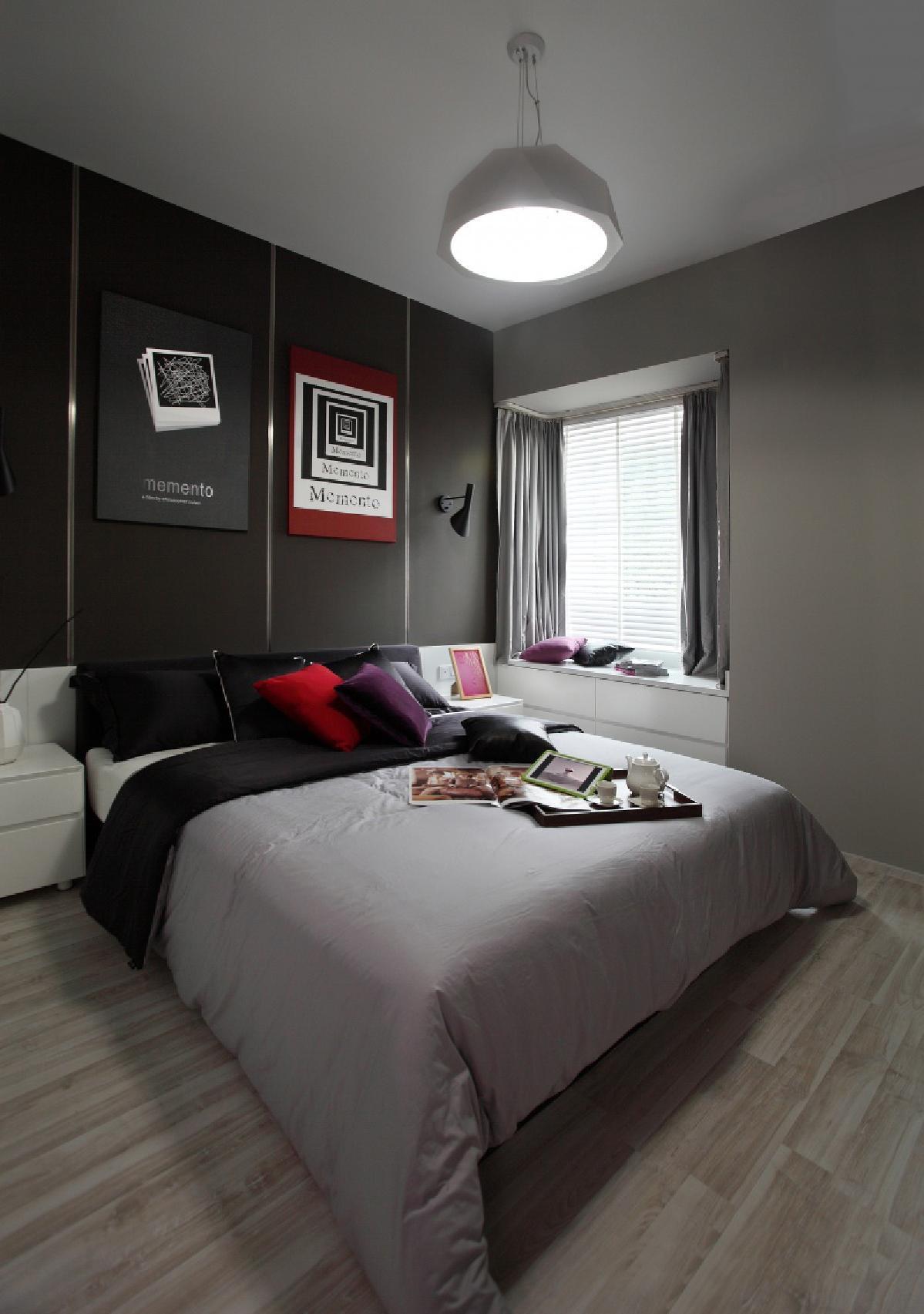 150㎡现代简约卧室装修效果图