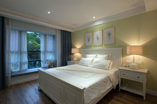 美式混搭风格卧室装修效果图