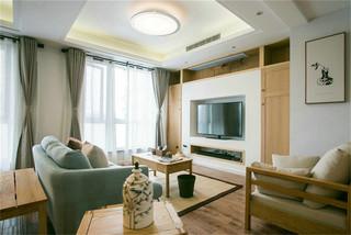 原木现代风格客厅装修效果图