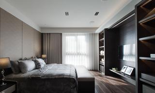 黑白灰现代公寓卧室装修效果图