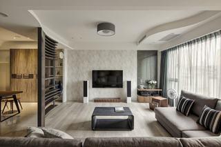 现代简约三居装修效果图