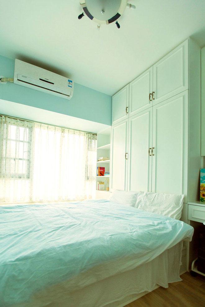 二居室田园风格榻榻米卧室装修效果图