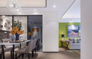 现代简约二居样板间餐厅装修效果图