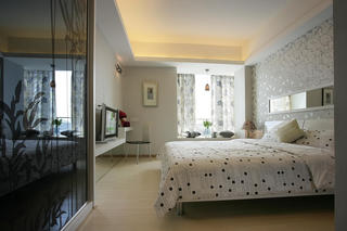 98平现代简约风格卧室装修效果图