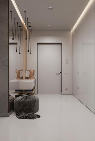 现代简约风格公寓玄关装修设计图