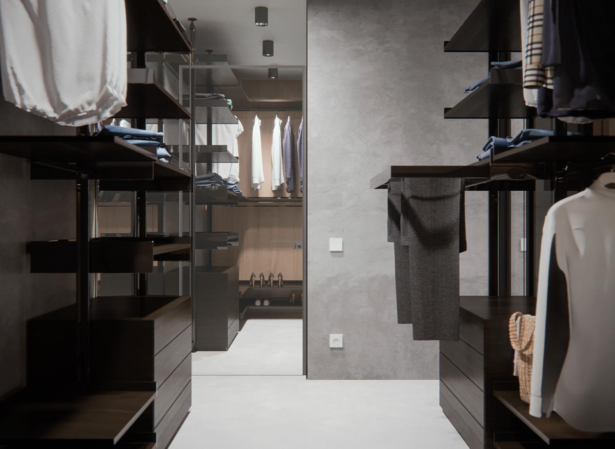 现代简约风格公寓衣帽间装修设计图