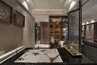 中式混搭风格三居书房装修效果图