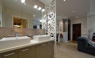 二居室现代简约风格洗手台装修效果图