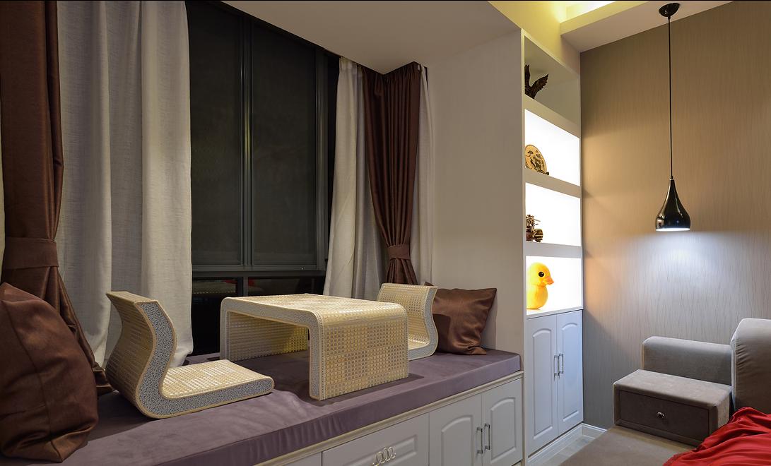 二居室现代简约风格飘窗装修效果图