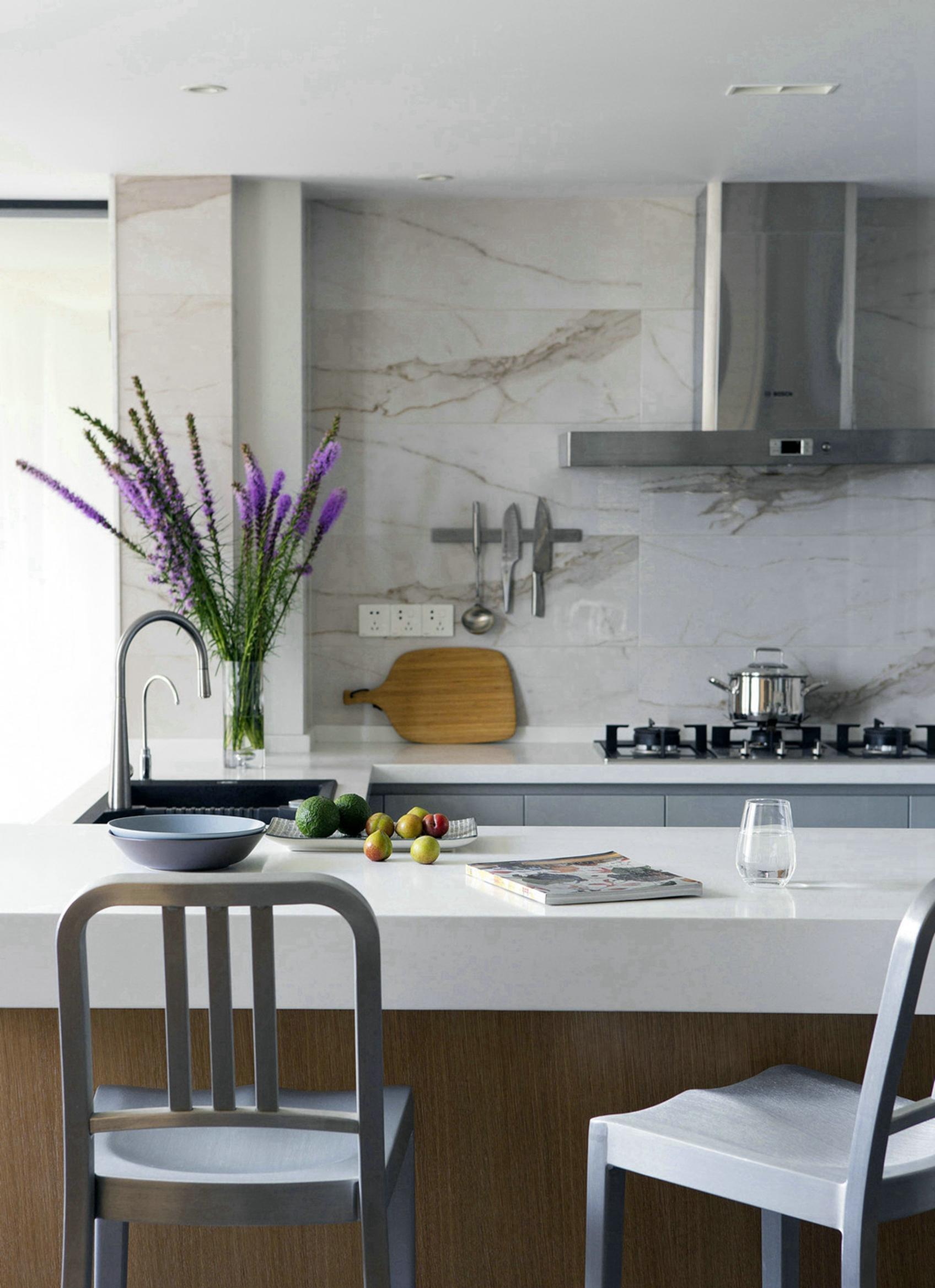 135㎡极简风格厨房装修效果图